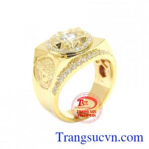 Nhẫn nam vàng tây Versace