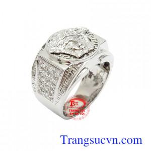 Nhẫn nam vàng trắng đẳng cấp 10k