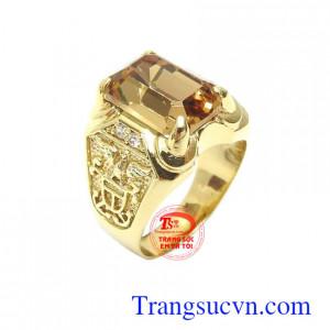 Nhẫn nam thời thượng vàng 10k bền đẹp, chất lượng, kiểu dáng tinh xảo, độc đáo