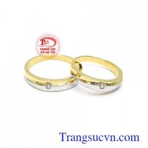 Nhẫn cưới vàng tình yêu son sắc