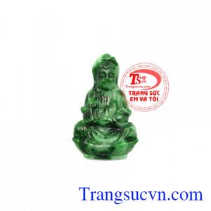 Mặt Phật Quan Âm cẩm thạch bình an