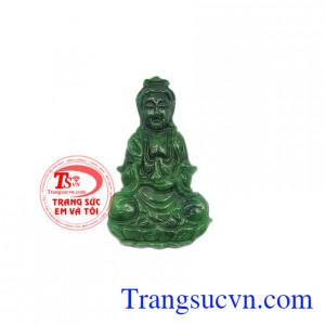 Mặt Phật Quan Âm cẩm thạch an lành