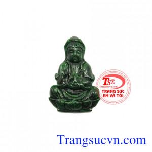 Mặt Phật Quan Âm cẩm thạch thiên nhiên