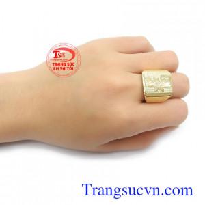 Nhẫn nam vàng 10k sản xuất công nghệ cao, sang trọng, thời trang và đẳng cấp