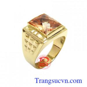 Nhẫn nam đính đá sang trọng vàng 10k kiểu dáng đẹp, chất lượng cao, gắn đá tinh xảo
