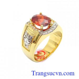 Nhẫn nam vàng 10k thời thượng chế tác đẹp, kiểu dáng tinh xảo, sắc nét, nhẫn nam vàng tây