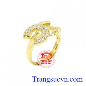 Nhẫn nữ vàng chanel bản to