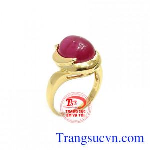 Nhẫn nữ vàng đá ánh sao