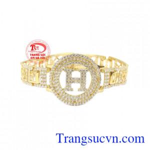 Lắc tay nữ chữ H 10k đẹp