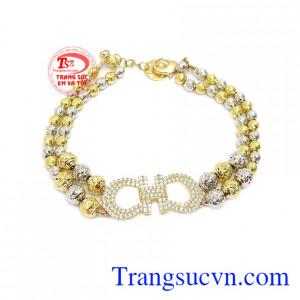 Lắc tay nữ 10k đẹp được chế tác bằng công nghệ cao đẹp, tinh xảo, chất lượng vàng đảm bảo