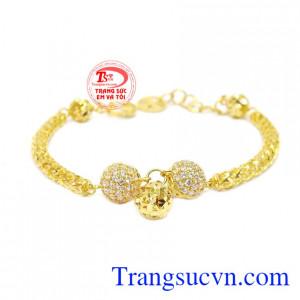Lắc tay nữ hạt 10k bền đẹp cá tính, chất lượng, hợp thời trang và quý phái