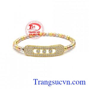 Vòng tay bi quý phái vàng 10k là sản phẩm được chế tác theo công nghệ Italy chất lượng cao,