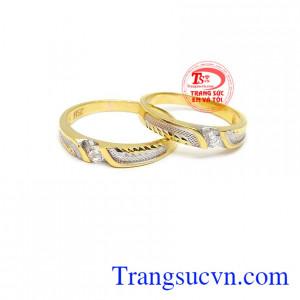 Nhẫn cưới bền chặt vàng 10k