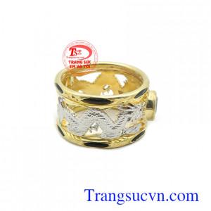 Nhẫn nam vàng tây bền đẹp, chất lượng, phù hợp nhiều phong cách thời trang