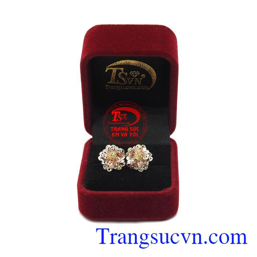 Hoa tai bông hoa vàng 10k là sản phẩm được chế tác theo công nghệ Italy đẹp, tinh xảo
