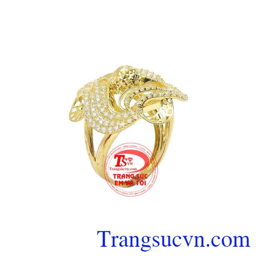 Nhẫn nữ vàng 10k trang nhã