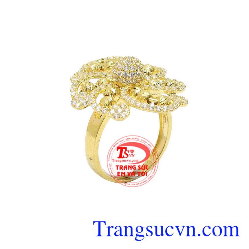 Nhẫn nữ hoa vàng 10k đẳng cấp