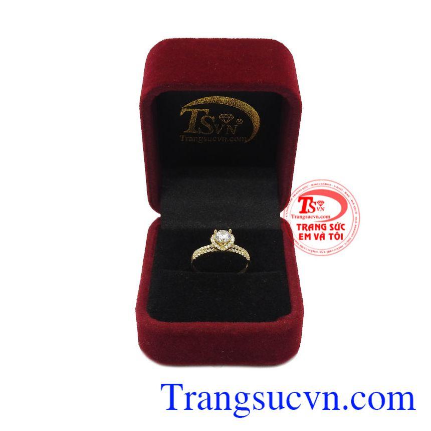 Nhẫn nữ vàng 10k trái tim