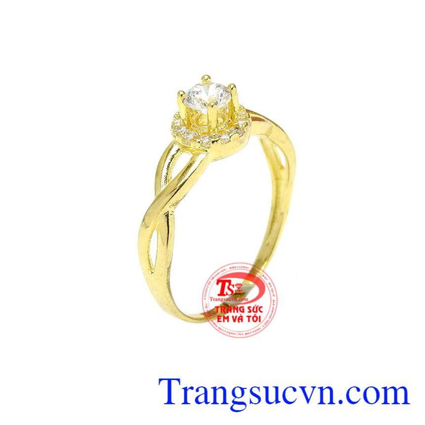 Nhẫn nữ trang nhã vàng 10k