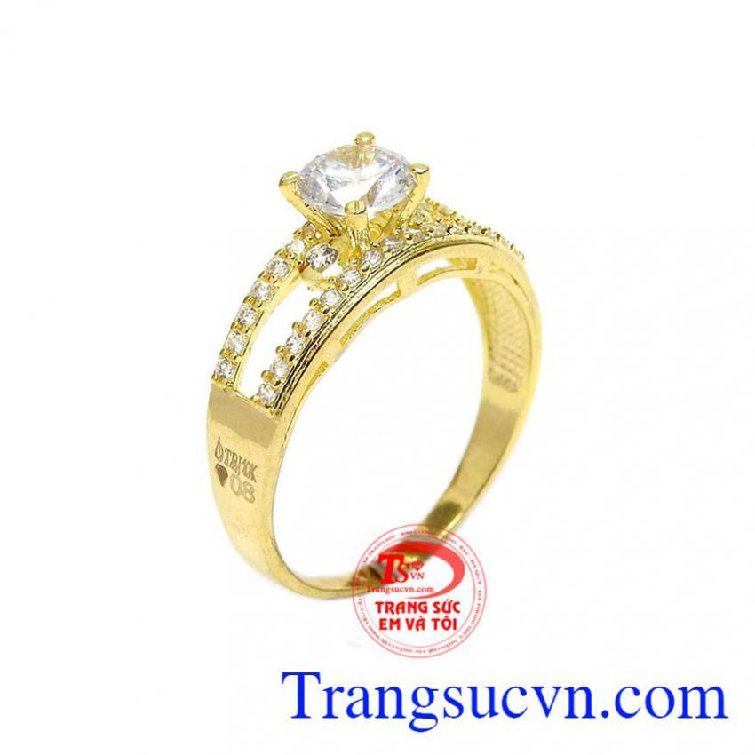 Nhẫn nữ cá tính vàng 10k