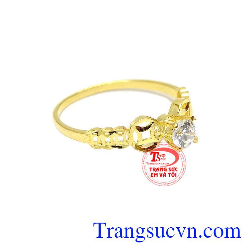 Nhẫn kim tiền mang đến vẻ thanh lịch, sang trọng cho người phụ nữ của bạn
