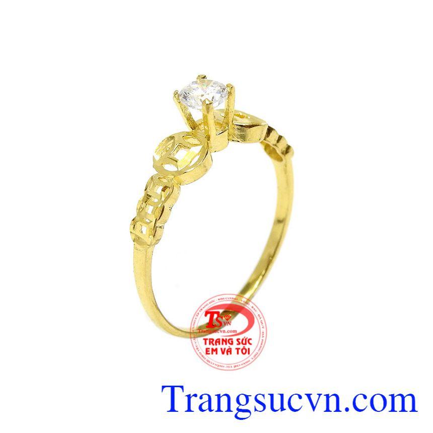 Nhẫn nữ kim tiền vàng 10k