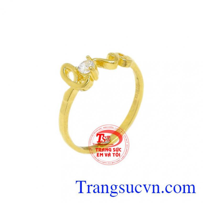 Nhẫn vàng chữ Love