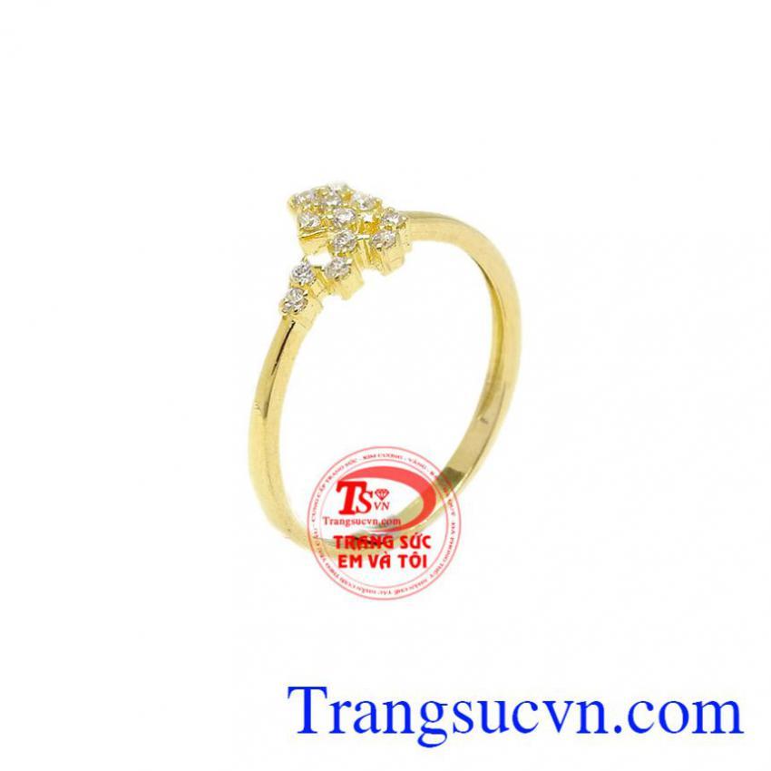 Nhẫn vàng ngôi sao lấp lánh