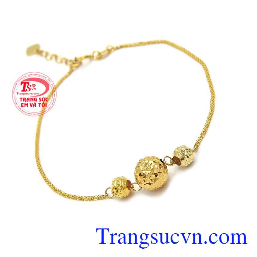 Lắc tay vàng xinh xắn 18k được các bạn nữ yêu thích, bảo hành 12 tháng, giao hàng nhanh trên toàn quốc