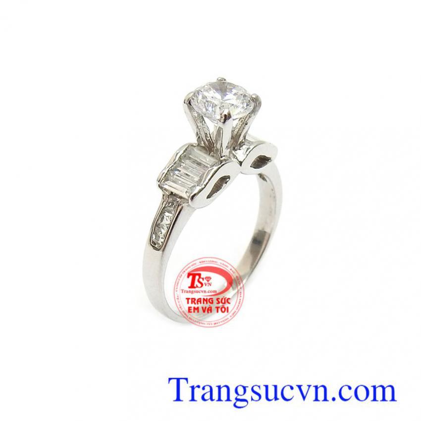 Nhẫn nữ vàng trắng xinh xắn 10k