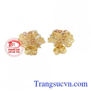 Hoa tai bông hoa vàng 10k món quà yêu thích của phái đẹp