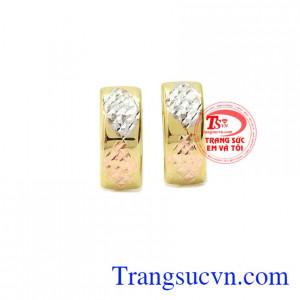 Hoa tai thời trang vàng 10k