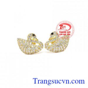 Hoa tai thiên nga vàng 10k
