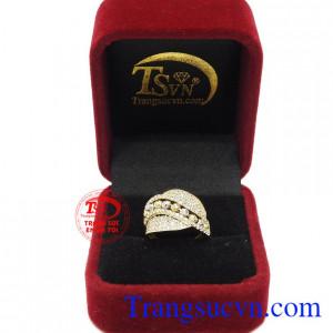 Nhẫn vàng 10k quý tộc