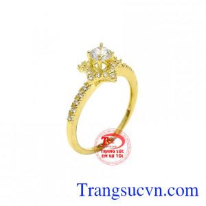 Nhẫn nữ vàng 10k ngôi sao được chế tác tinh xảo và tỉ mỉ từ vàng 10k đảm bảo chất lượng