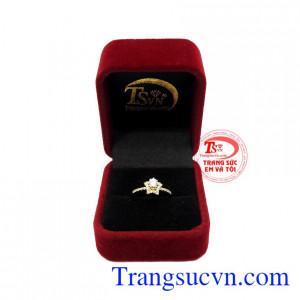 Nhẫn nữ vàng 10k ngôi sao