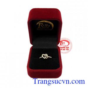 Nhẫn nữ vàng 10k yêu thương