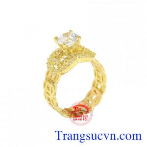 Nhẫn nữ kim tiền may mắn