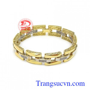 Lắc tay vàng nam 18k sang trọng mẫu mã đẹp, chất lượng cao, chế tác tinh xảo, độc đáo