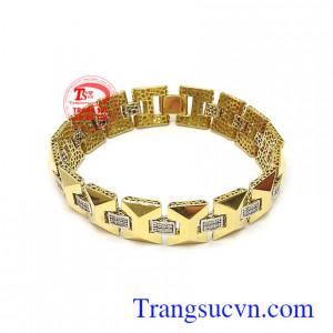 Lắc tay vàng 18k thời trang