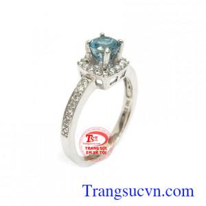 Nhẫn nữ Zircon thịnh vượng 10k