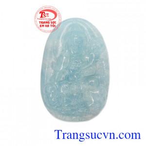Mặt Phật Phổ Hiền Bồ Tát Aquamarine