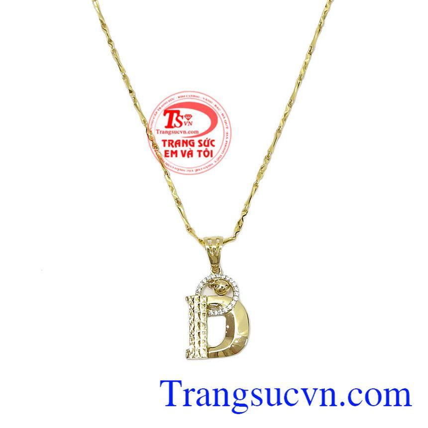 Mặt Dây Chuyền Chữ D sang trọng dành tặng phái đẹp, sản phẩm được các bạn nữ yêu thích