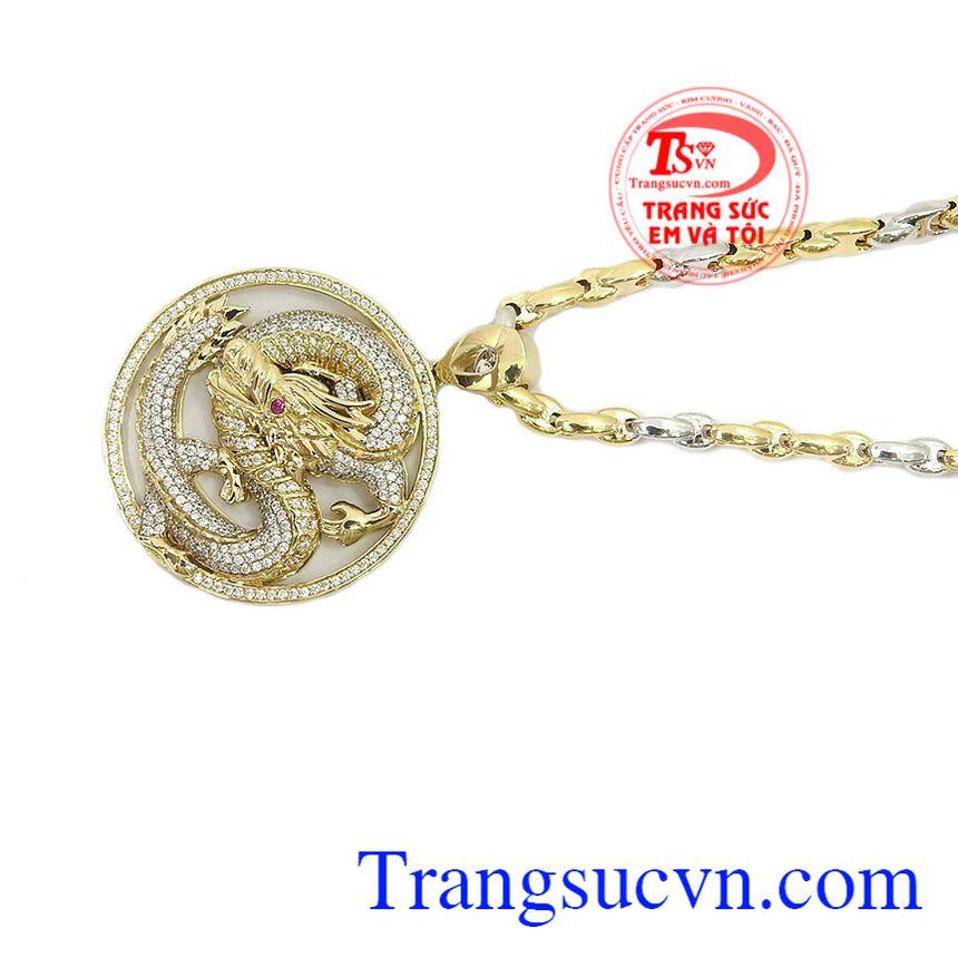 Mặt dây chuyền rồng vàng 10k là sản phẩm mặt dây chuyền vàng đẹp được chế tác 3D tinh tế, sang trọng