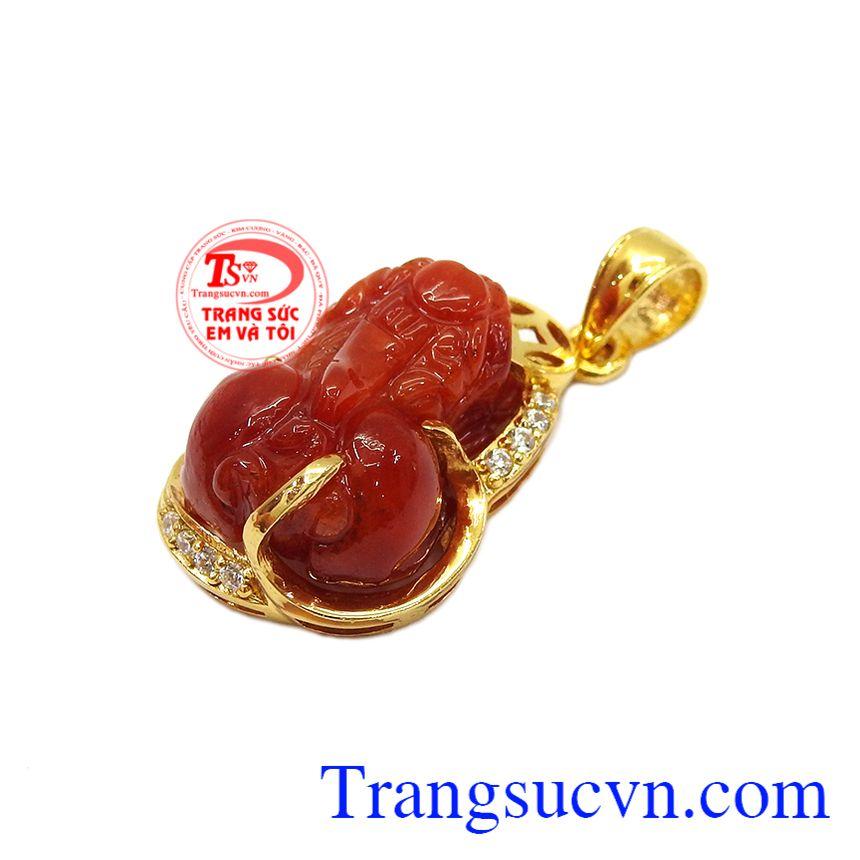 Sản phẩm được bảo hành uy tín, giao hàng toàn quốc,Mặt dây tỳ hưu vàng 14k đẹp