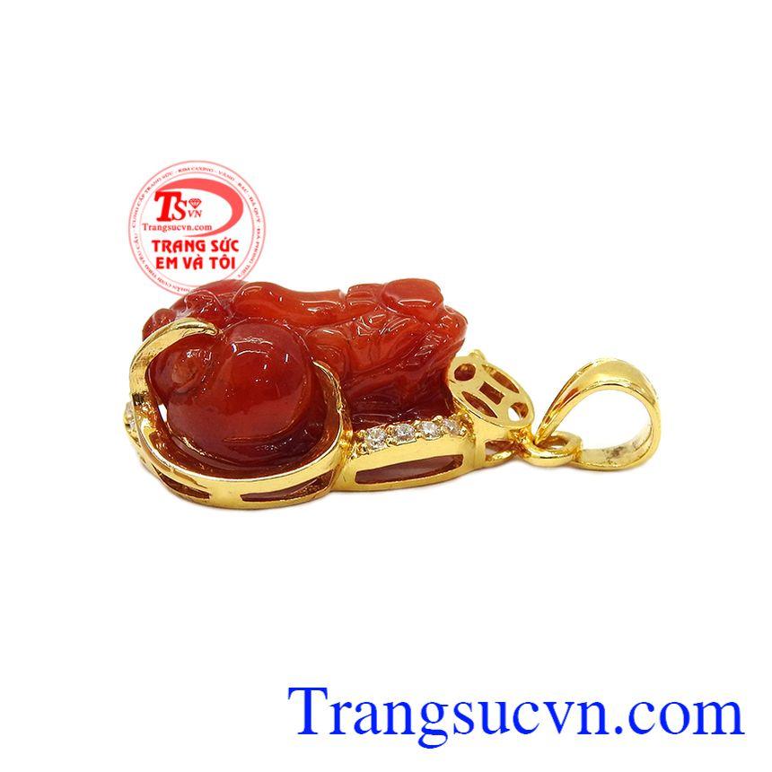 Sản phẩm thích hợp làm quà tặng cho người thân hoặc bạn bè trong nhiều dịp khác nhau,Mặt dây tỳ hưu vàng 14k đẹp