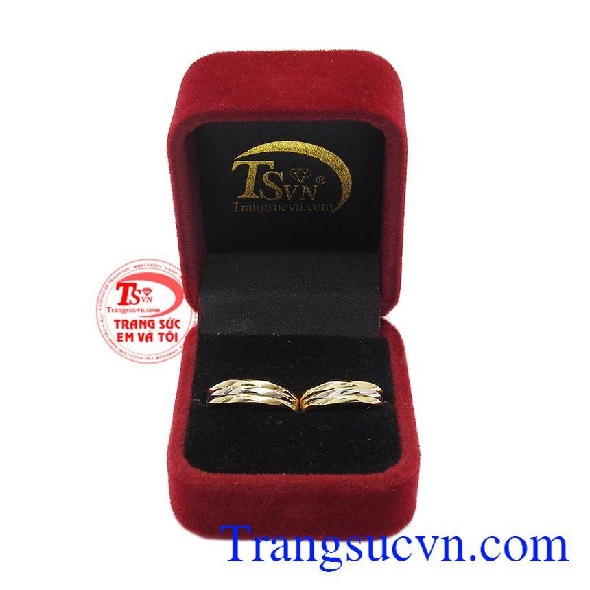 Nhẫn cưới 10k Korea đẹp