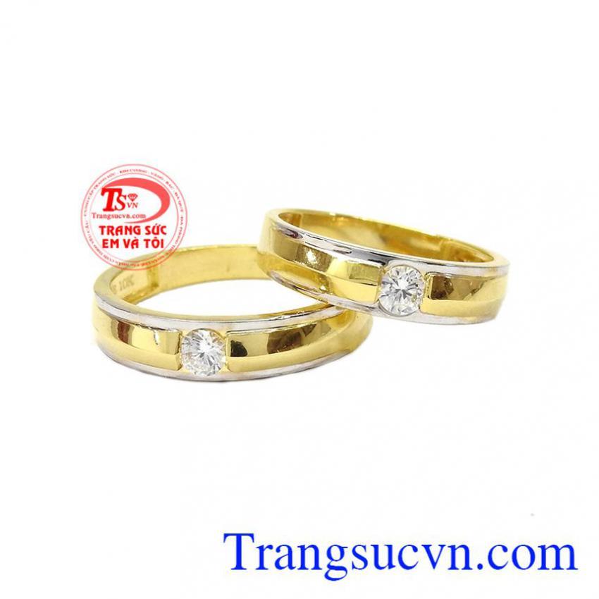 Nhẫn cưới 10k Korea son sắc