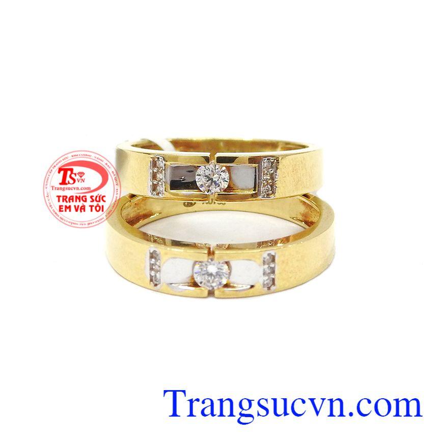 Nhẫn cưới vàng 18k tình yêu trọn vẹn bảo hành 1 năm, thanh toán an toàn,Nhẫn cưới vàng 18k tình yêu trọn vẹn