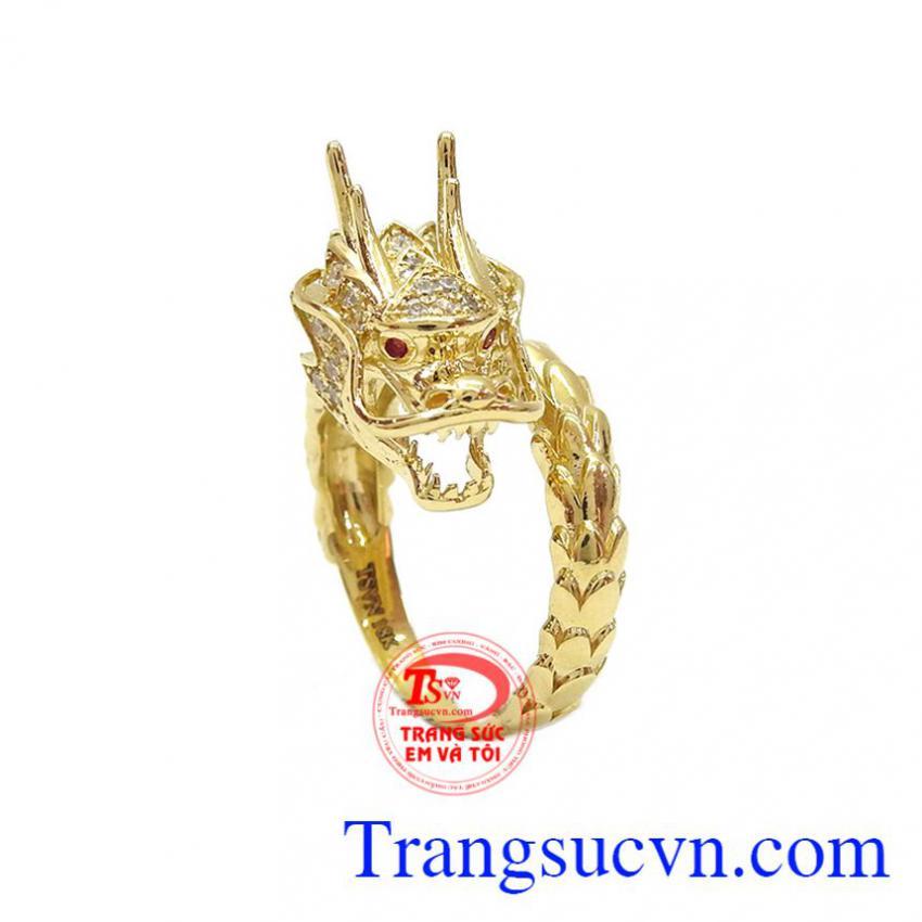Nhẫn nam rồng vàng 18k đắng cấp